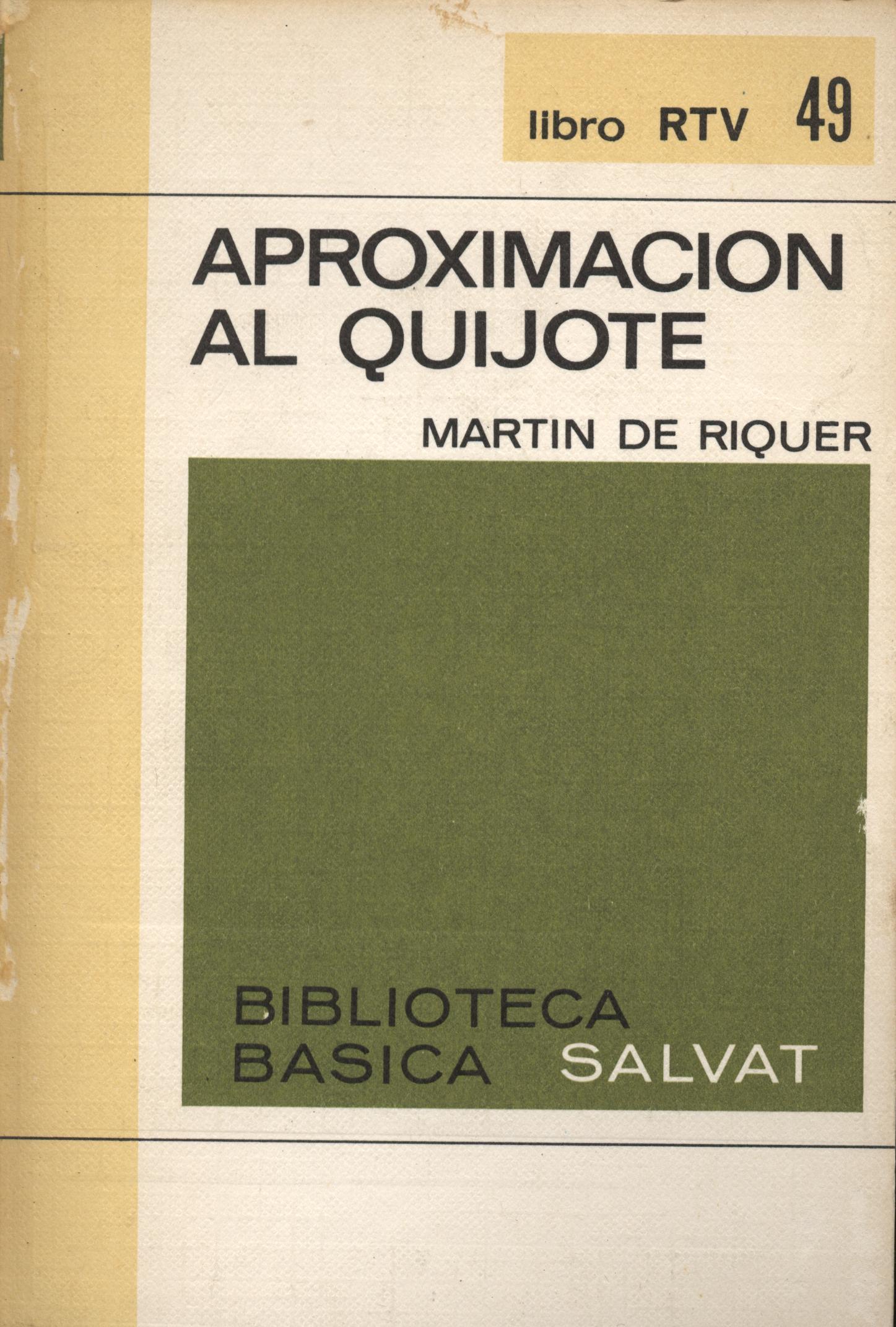 Aproximación al quijote - Martín de Riquer