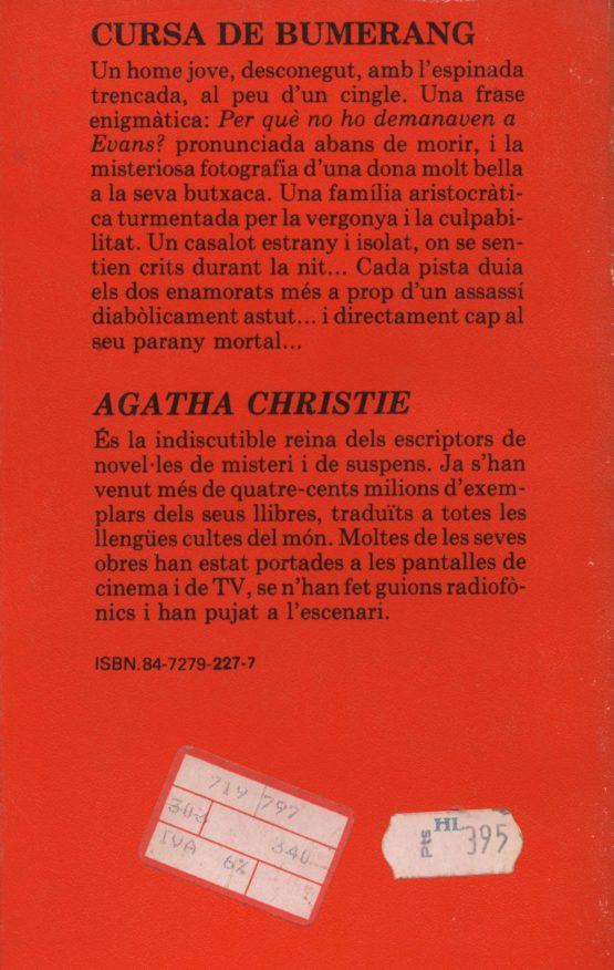 Cursa de bumerang - Agatha Christie