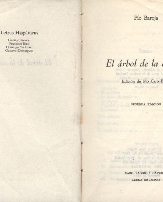 El árbol de la ciencia - Pío Baroja