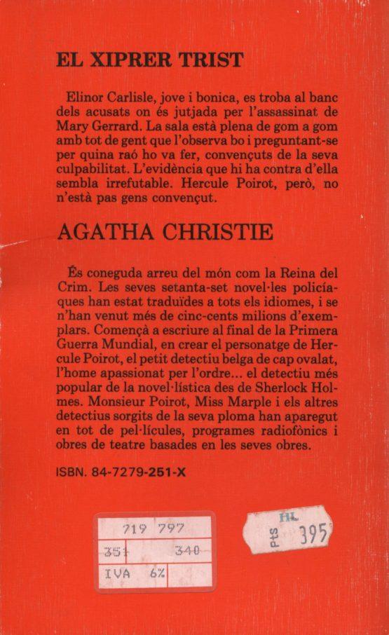 Venda online de llibres d'ocasió com El xiprer trist - Agatha Christie a bratac.cat