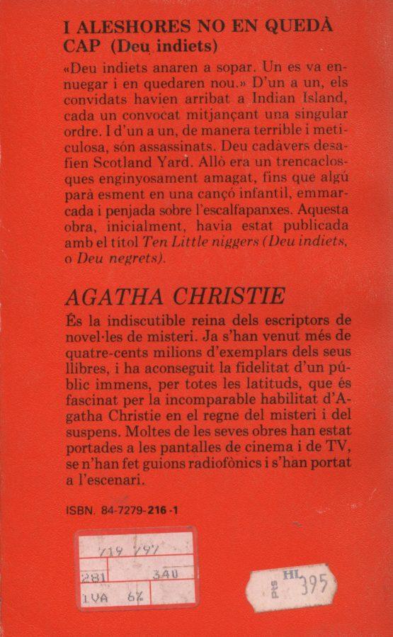 I aleshores no en quedà cap (deu negrets) - Agatha Christie