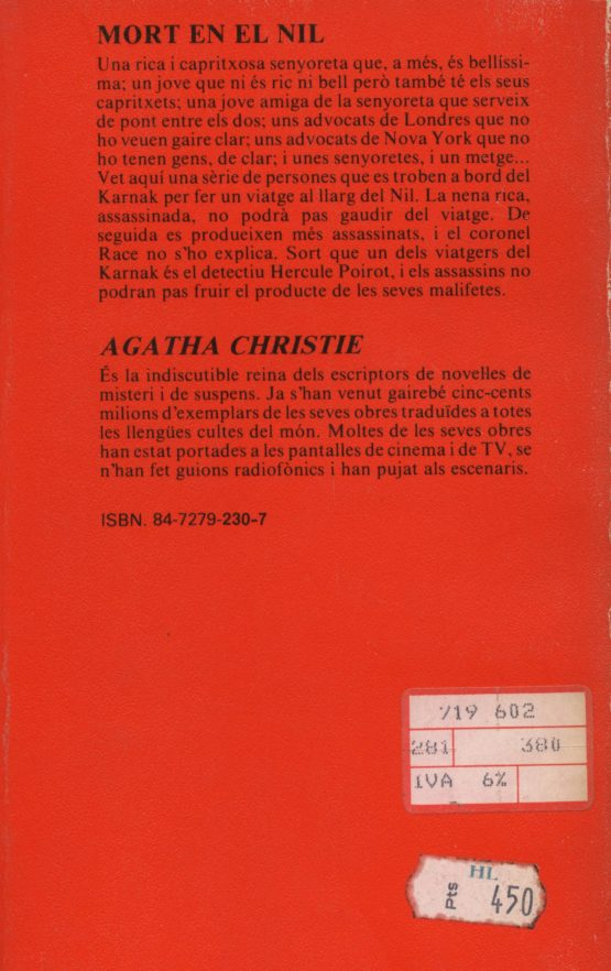 Mort en el Nil - Agatha Christie