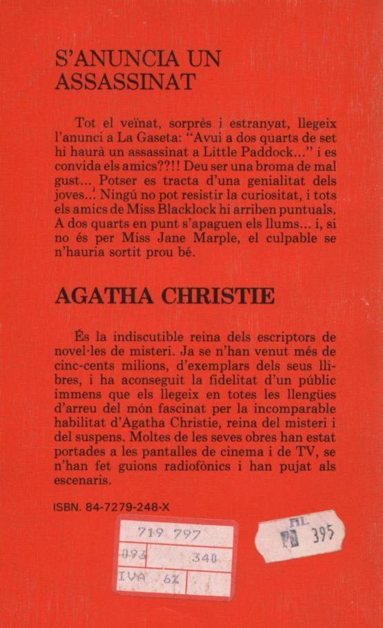 Venda online de llibres d'ocasió com S'anuncia un assassinat - Agatha Christie a bratac.cat