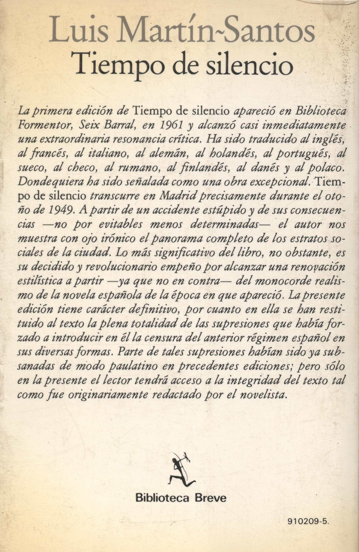 Tiempo de silencio - Luis Martín-Santos a bratac.cat