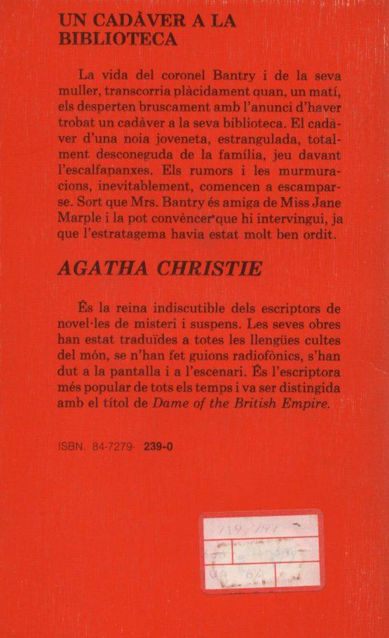 Un cadàver a la biblioteca - Agatha Christie a bratac.cat
