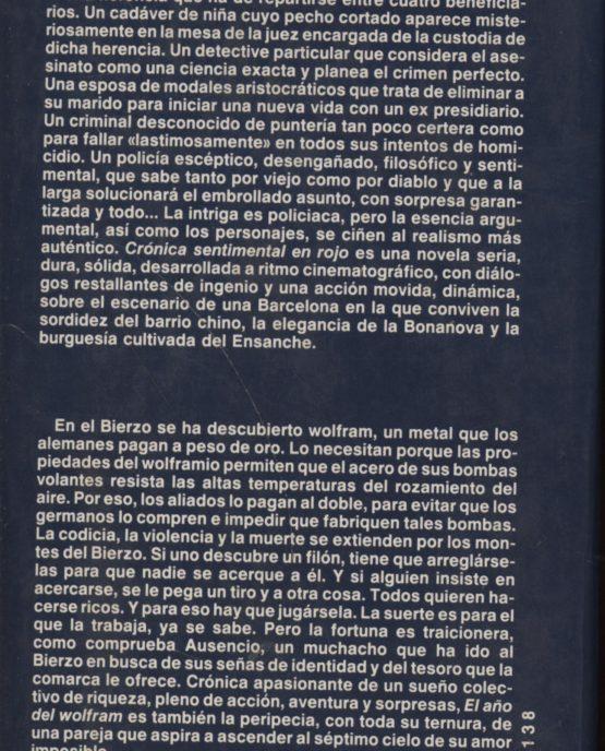 Cronica sentimental en rojo + El año del Wolfram - Francisco Gonzalez Ledesma + Raúl Guerra Garrido a bratac.cat