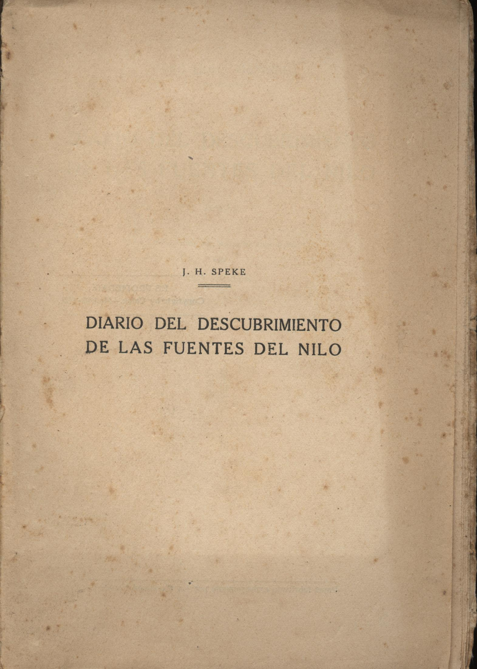 Diario del descubrimiento de las fuentes del nilo Tomo II - Specke