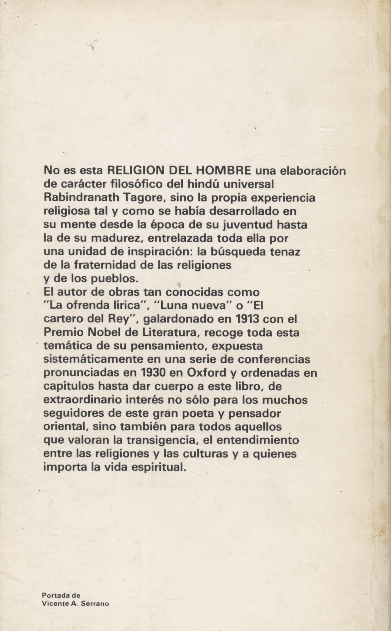La religión del hombre - Rabindranath Tagore