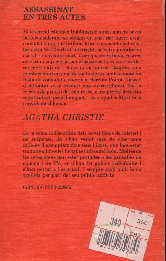 Venda onlibe de llibres d'ocasió com Assassinat en tres actes - Agatha Christie a bratac.cat