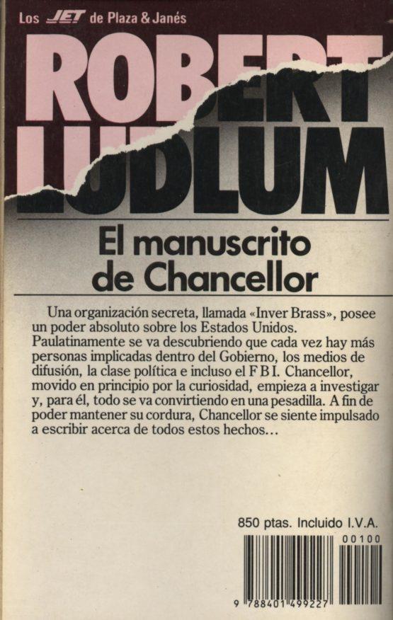 El manuscrito del chancellor - Robert Ludlum