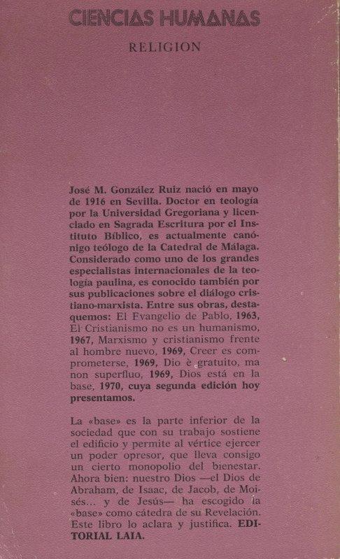Diós está en la base - José Ma. Gonzalez Ruíz en bratac.cat