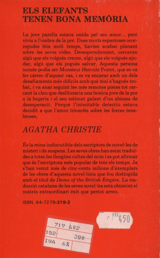 Els elefants tenen bona memòria - Agatha Christie
