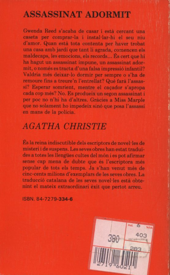 assassinat dormint - Agatha Christie a bratac.cat