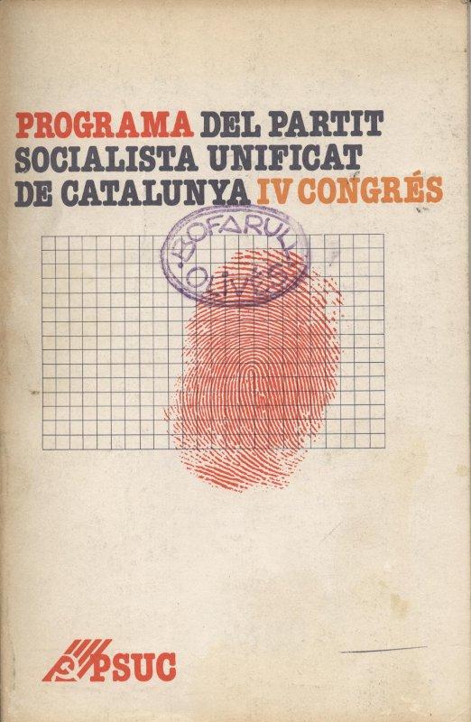 Venda online de llibres d'ocasió com Programa del Partit Socialista Unificat de Catalunya IV Congrés a bratac.cat
