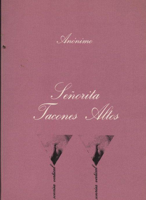 Venda online de llibres eròtics d'ocasió com Señorita Tacones Altos - Anònim a bratac.cat