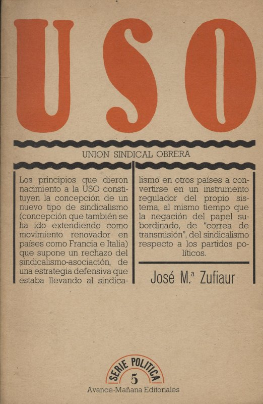 Venta online de libros de ocasión como USO - Unión Sindicalista Obrera en bratac.cat
