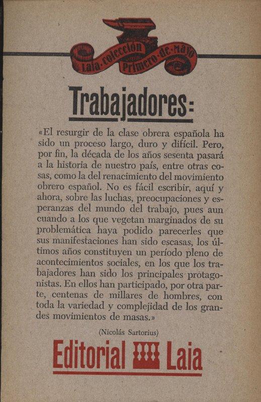 Venda online de llibres d'ocasió com El resurgir del movimiento obrero - Nicolás Sartorius a bratac.cat