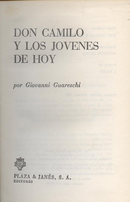 Venta online de libros de ocasión como Don camilo y los jovenes de hoy - Giovanni Guareschi en bratac.cat