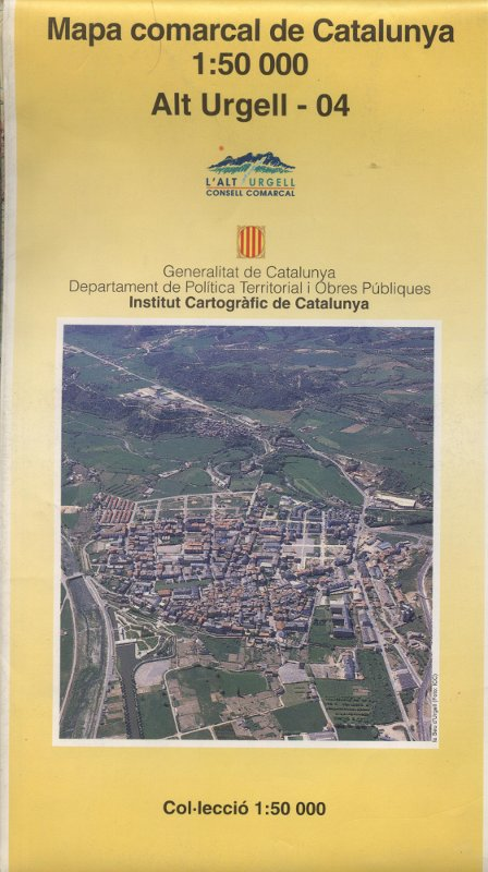 Venta online de Mapa comarcal de l'Alt Urgell - Institut Català de Cartografia a bratac.cat