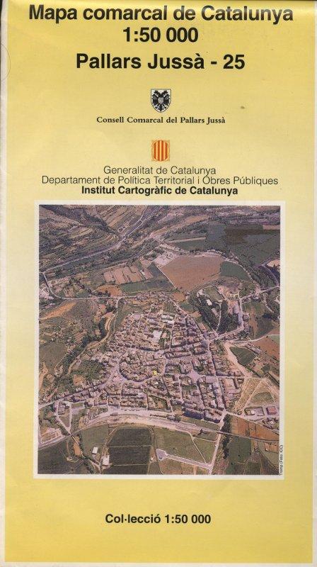 Venta online de Mapa comarcal de Catalunya - Pallars Jussà - Institut Català de Cartografia en bratac.cat