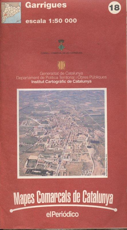 Venda online de Mapes comarcals de Catalunya - Garrigues a bratac.cat