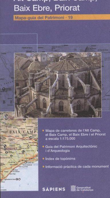 Venda online de Mapa Guia del Patrimoni: Alt Camp, Baix Camp, Priorat a bratac.cat