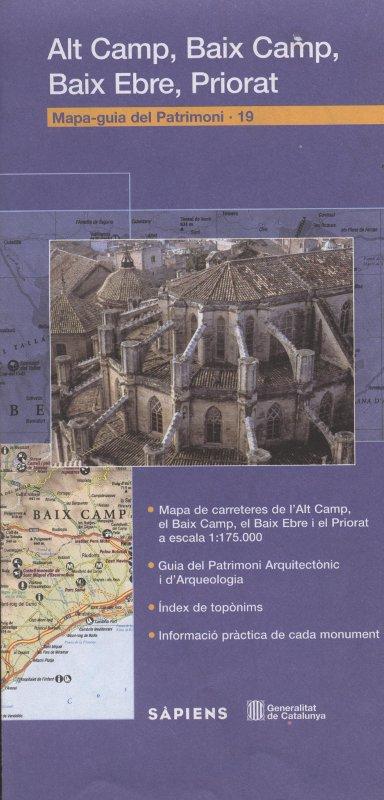 Venta online de Mapa-guia del patrimoni Alt Camp, baix camp, Baix Ebre, priorat en bratac.cat
