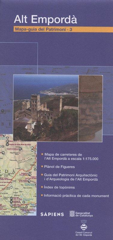 Venta online de Mapa-guia del patrimoni Alt Empordà de ocasión en bratac.cat