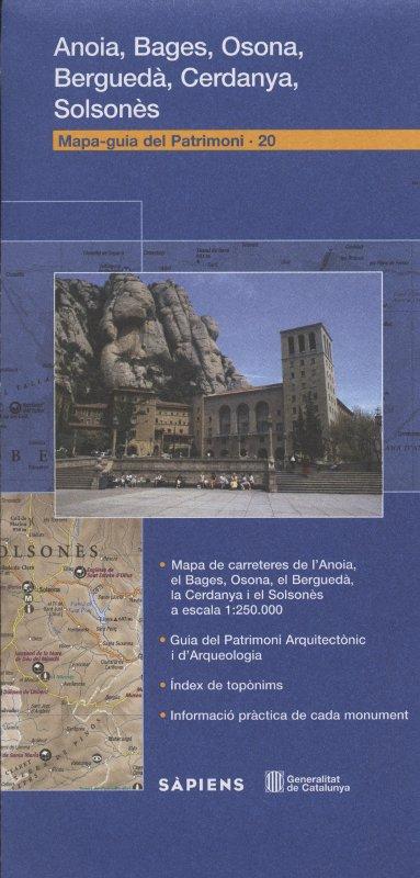 Venta online de Mapa-guia del patrimoni Anoia, Bages, Osona, Berguedà, Cerdanya, Solsonès de ocasión en bratac.cat