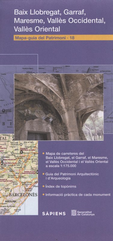 Venta online Mapa-guia del patrimoni Baix Llobregat, Garraf, Maresme, Vallès Oriental, Vallès Occidental en bratac.cat