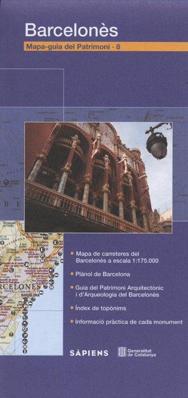 Venda online de mapa-guia del patrimoni Barcelonès d'ocasió a bratac.cat