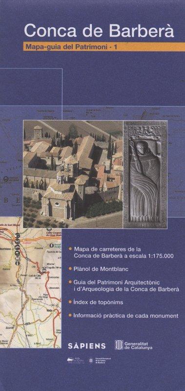 Venta online de Mapa-guia del patrimoni Conca de Barberà en bratac.cat