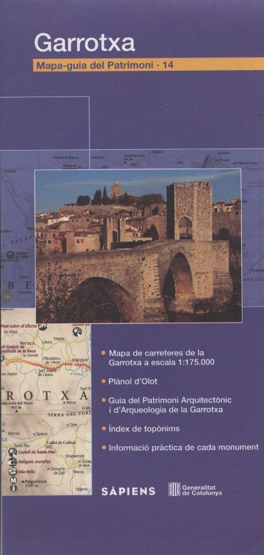 Venta online de Mapa-guia del patrimoni Garrotxa en bratac.cat